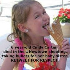 Pray4Newtown ‏@_Pray4Newtown  R.I.P. to this 6 year-old girl. <3 Killed in the #Newtown shooting. #Retweet, get her story out. #PrayForNewtown ♥♥♥ pic.twitter.com/HpIGLROB