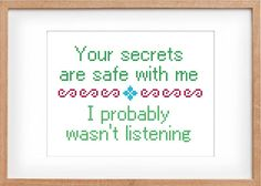 Funny Cross Stitch Pattern Modern by RhiannonsCrossStitch