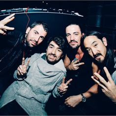 Dimitri Vegas & Like Mike, Oliver Heldens and Steve Aoki. i'm proud of my country!!! BELGIUM!!!!!!!!