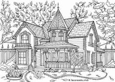 adult coloring pages free printable houses the best free adult coloring book pages ausmalbilder adult free coloring pages houses printable Printable Adult Coloring Pages, Free Coloring Pages, Coloring Pages Nature, House Colouring Pages, Coloring Books, Colouring Sheets For Adults, Castle Coloring Page, House Drawing, Victorian Homes