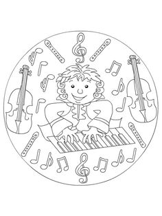 coloring page musical instruments kids n fun