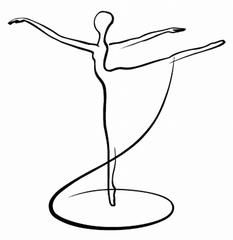 Academy of Russian Ballet MaisNa, wie findet Ihr mein neues Kleif?You'll never find any simpler example to embroider than this and the one of Marilyn>Love this idea for simple one line drawing! Keeping up with your ballet technique can seem overwhelm Pencil Art Drawings, Easy Drawings, Art Sketches, Ballet Drawings, Line Drawing, Painting & Drawing, Sketch Drawing, Drawing Ideas, Picasso Drawing