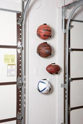 Ball Claws - so clever! #garage #hiddenstorage #sports