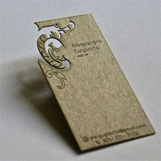 Laser cut business cards by b type design