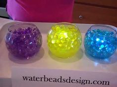 DIY Wedding Centerpieces with water beads - I didn't know you can post a video on Pinterest!