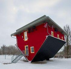Upside down house, Germany
