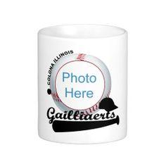 Gailliaerts Softball Colona Illinois Coffee Mugs #zazzle #mug #gailliaerts #softball #colona #illinois