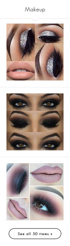 """Makeup"" by mirah123 ❤ liked on Polyvore featuring beauty products, makeup, lip makeup, eye makeup, eyeshadow, eyes, lips, beauty, palette eyeshadow and false eyelashes"