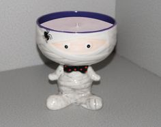 Customized Mummy Ceramic Candle by AllThatTeases on Etsy, $30.00