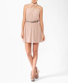 Knotted Strappy Yoke Shirtdress | FOREVER 21 - 2000047515