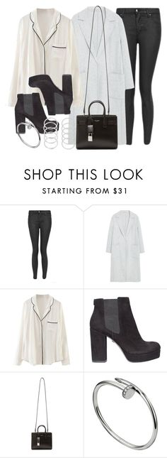 """Style #11552"" by vany-alvarado ❤ liked on Polyvore featuring Topshop, MANGO, WithChic, KG Kurt Geiger and Yves Saint Laurent"