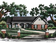 Eplans Country House Plan - Combined Amenities Evoke Traditional Style - 1955 Square Feet and 3 Bedrooms from Eplans - House Plan Code HWEPL01254