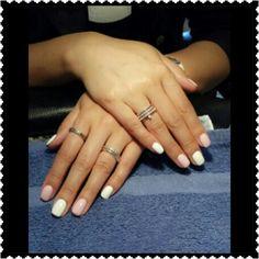 White & Pink nail polish