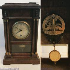 "Vintage mantle clock measuring 10"" tall. Bids close Wed, 31 Aug from 11am ET.  http://bid.cannonsauctions.com/cgi-bin/mnlist.cgi?redbird50/142/1"
