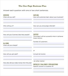 431 Best Business Plan Template Images Business Planning Business