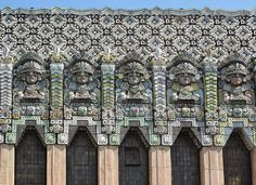Art Deco included elements normally absent in Western architecture (considered exotica at the time) such as ancient Mayan, Aztec, Assyrian, Marajoara and Egyptian influences.  David Victor Vector: What IS Art Deco? A Little Background
