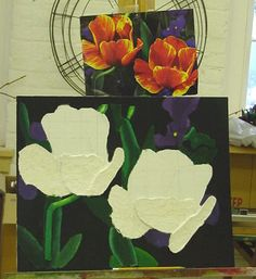 Sculptural Paintings - Building a relief sculpture and incorporating painting.