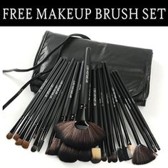Get Your Free 24 Piece Makeup Brush Set. Hurry, before it is gone! Limited Time Remaining. In Stock - Ships in 24 Hours From New York.