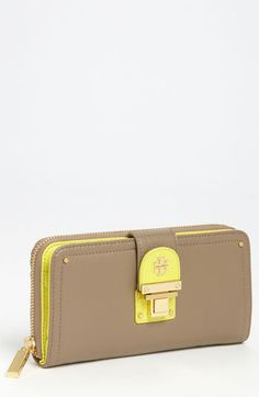 Tory Burch Rachael wallet...ok, now I really need to stop buying highlighter yellow. I promise I'm done. Really.