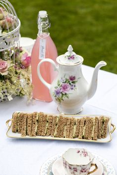 Summer Secret Garden tea party, vintage tea party wedding, Sweetpea and Ivy wedding decor.
