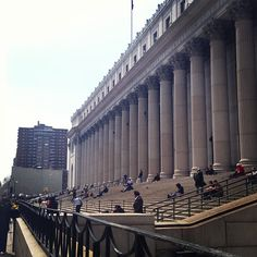 It's a beautiful day outside the iconic US Post Office by Penn Station, right near Coach HQ! #NYC