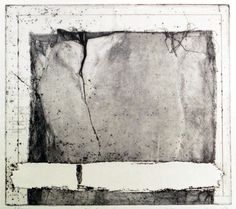 83-EW-1 22.7x25.2cm copperplate print (etching) with chine collé  林孝彦 HAYASHI Takahiko 1983