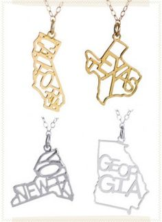 BTC Elements - State Pride Necklaces,    wish i was from a cooler state.