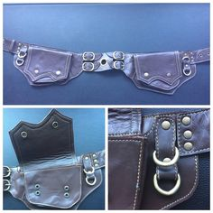 "Dark brown leather ""oak"" style utility belt/ pocket belt/ beltbag by NayturesEmpire on Etsy https://www.etsy.com/listing/272740708/dark-brown-leather-oak-style-utility"