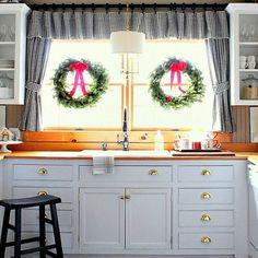 küche-gestalten-ideen-Küchenvorhänge