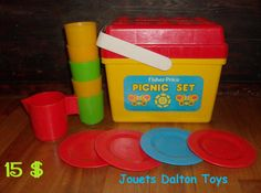 1970's vintage picnic set Vintage Picnic, Picnic Set, Vintage Fisher Price, Little People, Toys, Activity Toys, Short People, Clearance Toys, Gaming