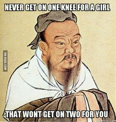 Confucius Say - It is only when a mosquito lands on your testicles that you realize There is allways a way to solve problems without using violence. Image Gag, Confucius Say, Man On Fire, Funny Quotes, Funny Memes, Confucius Quotes Funny, That's Hilarious, Funny Captions, Wise Quotes