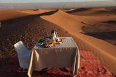 Sunrise breakfast, Dar Ahlam Private Tent Camp, Sahara Desert, Morocco