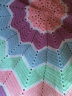 FREE Crochet Pattern - Rainbow ripple baby blanket ... free Ravelry crochet pattern