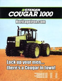 The Steiger Cougar 1000... looks like a man-eater to me! #HeritageIron #MuscleTractor