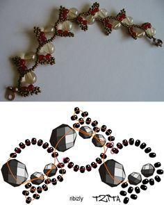 Tutorial for this pretty bracelet or necklace: http://media-cache-ec0.pinimg.com/originals/ab/f8/1b/abf81b5eb868f568f499401a590a9ab5.jpg