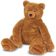 Big Brown Teddy Bear Melissa & Doug Plush Jumbo Brown Teddy Bear Classic New #MelissaDoug