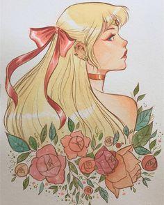 "sailor-moon-rei: ""by lukaswerneck "" Sailor Venus, Sailor Moons, Sailor Moon Fan Art, Sailor Moon Crystal, Sailor Jupiter, Sailor Moon Tumblr, Chica Anime Manga, Anime Art, Watercolor Art"