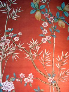 Chinoiserie Papers » Kenzaburo | Griffin & Wong | Elegance in Silk Hand Painted Wallpaper Design