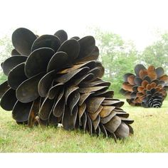@Karen Rose - wonder what ribbons Carson would win if he made one for the fair? Recycled shovel pine cones from #StudioG