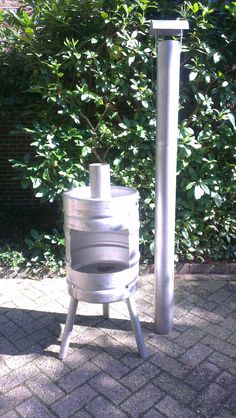 beer keg, fire pit, stainless steel, tig welding, removable pipe