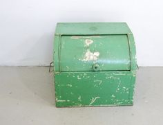 Vtg Antique KREAMER Green Painted Metal Roll by sixcatsfunSTUFF, $75.00