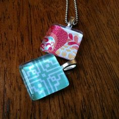 Create a glass tile pendant with tutorial
