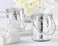 Mercury Glass Candle Holder  Perfect for Silver Anniversary Party, too! $3.70 for 48+