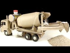 How to make Concrete Mixer Truck - Self Loading Concrete Mixer Truck. In this video I will guide you: how to make cement mixer truck at home for kids from us. Diy Toys Car, Cement Mixer Truck, Cardboard Car, Wood Toys Plans, Concrete Mixers, Wood Sticks, Art Activities For Kids, Toy Trucks, Diy Home Crafts