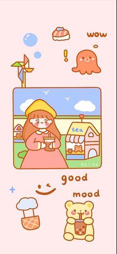 Kawaii Wallpaper, Cute Cartoon Wallpapers, Cool Pictures, Scrapbook, Drama Korea, Manga, Comics, Drawings, Stickers