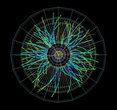 Protons collide with lead ions in the ALICE dectector in the first LHC physics beams of 2013 (CERN)