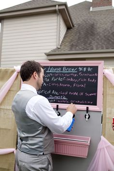 DIY Home Brew station at wedding :) Best things ever!