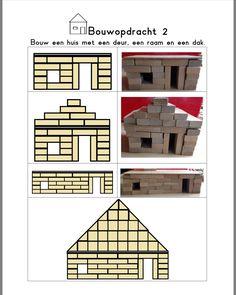 Bouw een huis met een schuin dak