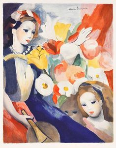 Marie Laurencin Girls with Flowers 1950 - still life quick heart