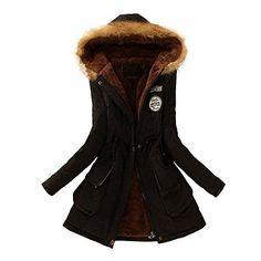 9518f16c78e3 Elecenty Damen Wintermantel Winterjacke Reißverschluss Übergröße Outwear  Baumwollkleidung Parkajacke Mantel Jacke Reißverschluss Oberbekleidung  Trenchcoat ...